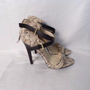 """Anne Michelle Snake Skin Print 5"""" Stiletto Heels"""